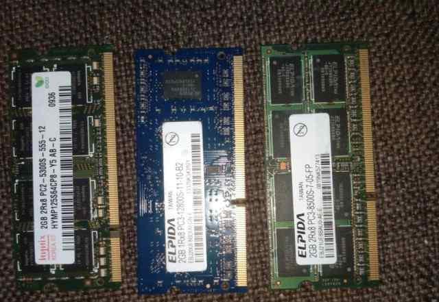 DDR3 и DDR2 для ноутбуков 1600 Epida 2gb