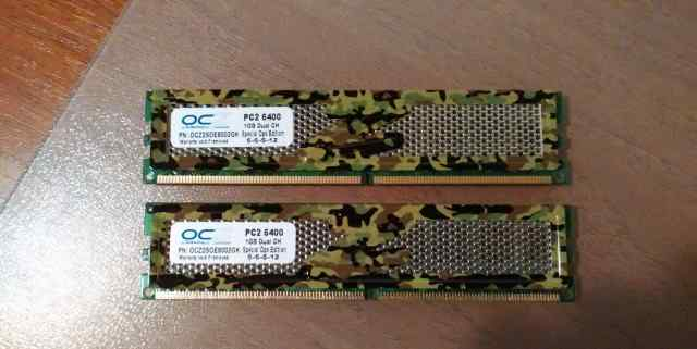 Модуль памяти 1 Gb (2 шт.) OCZ PC2 6400