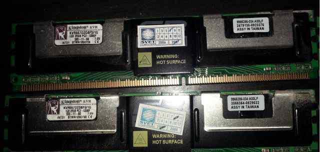 DDR2 FB-dimm KVR667D2D8F5 667MHZ PC-5300 ECC 1GB