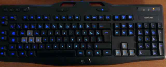 Светодиодная игровая клавиатура logitech g105