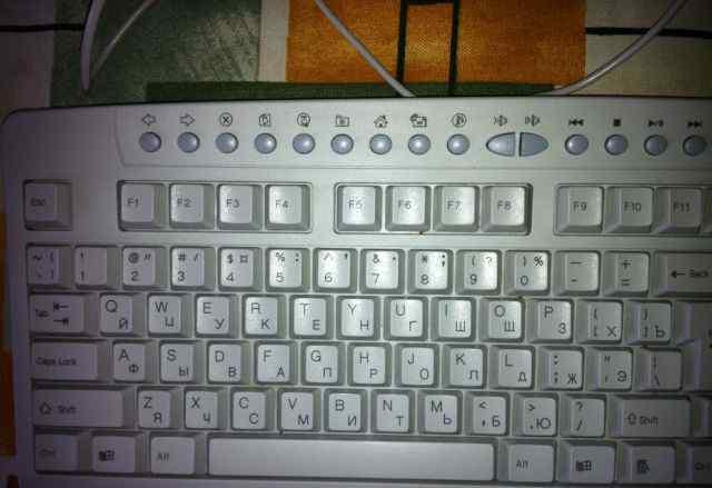 Клавиатура в хорошем состоянии