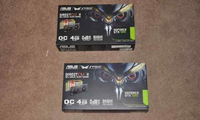 Asus NVidia GeForce GTX 980 гарантия, все новые