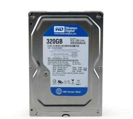 Жесткий диск на 320 Гб Western Digital