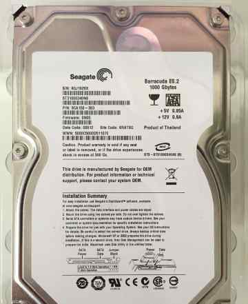 Seagate Barracuda ES.2 ST3100340NS 3.5