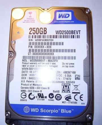 Жесткий диск для ноутбука WD2500bevt 250Gb