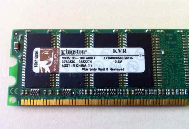 Оперативная память Kingston KVR400X64C3A 1Gb