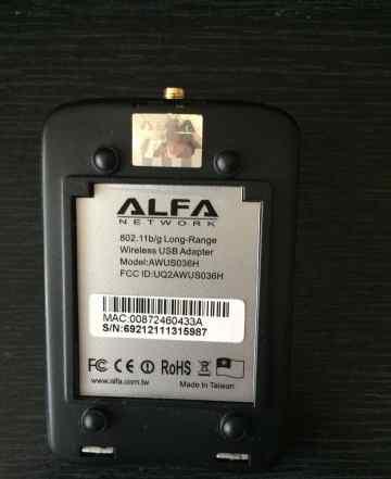 WiFi Alfa awus036H Realtek 8187