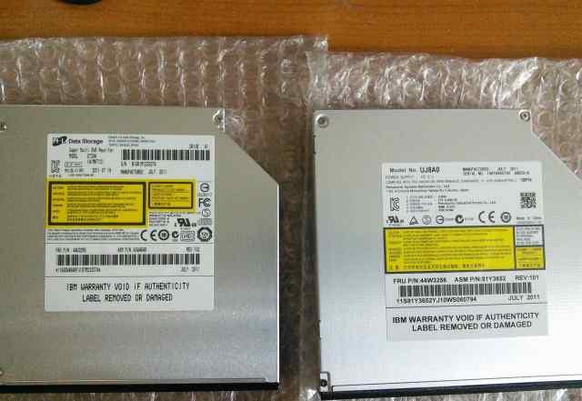 два DVD-RW SATA slim привода для ноутбуков