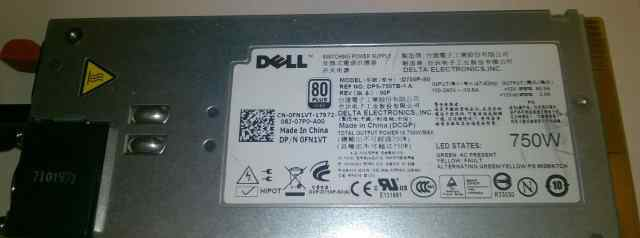Dell PowerEdge R510 R810 R910 750W Power Supply