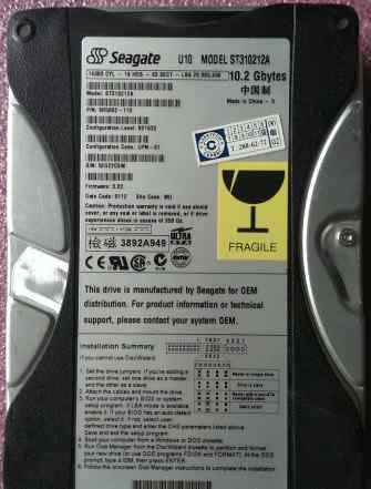 Seagate ST310212A (10.2Gb IDE 5400Rpm 3.5)
