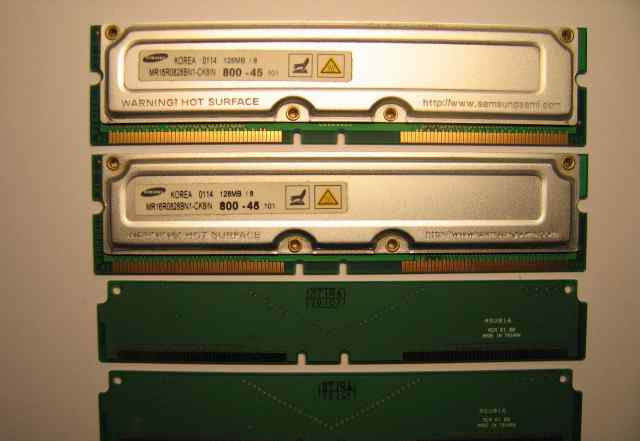 Rimm память Samsung 2х128Mb + Pentium 4 Socket 423
