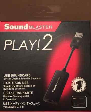 Звуковая карта USB Sound Blaster Play 2