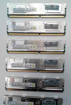 Серверная память64x 4Gb PC2 5300F DDR2 667 FB-dimm