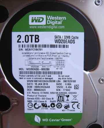 Жесткий диск Western Digital WD20eads