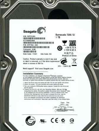 Жесткий диск Seagate 1Tb ST31000524AS