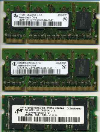 DDR2 500 MB PC2-4200S-444-11-A0 sodimm