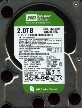 Жесткий диск WD 2Tb WD20ears