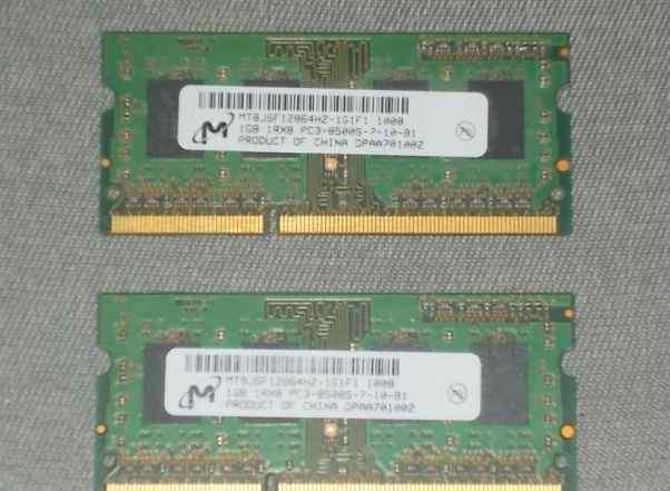 2x sodimm DDR2 1Gb 1066MHz PC3-8500