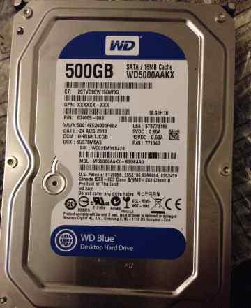 Western Digital WD5000aakx 500Гб