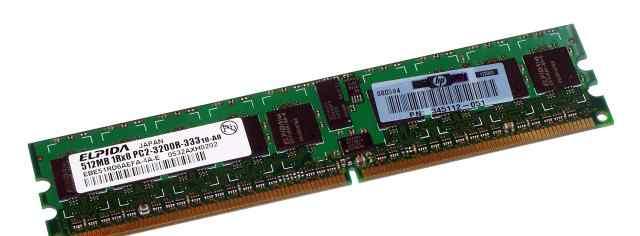 Модуль памяти DDR2 512Mb 400 PC2-3200R ECC CL3