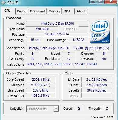 Процессор Core 2 Duo Processor E7200 (socket 775)