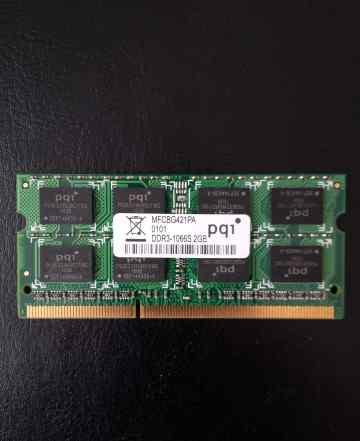 Модуль SO-dimm DDR3-1066 2Gb PQI mfcbg421A