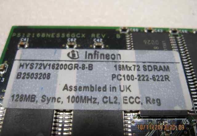 Модуль памяти Compaq Infineon 128Mb Sync ECC sdram