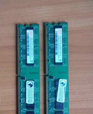 Комплект из 2х1Gb Hunyx 1Gb 2Rx8 PC2-6400U-555-12