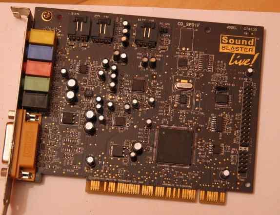 Звуковая карта CT4380, soundblaster