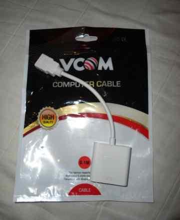Переходник hdmi(M) VGA(F), vcom (CG558) новый