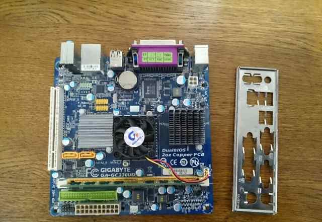 Материнская плата ITX Gigabyte GC330UD + 2Gb DDR2