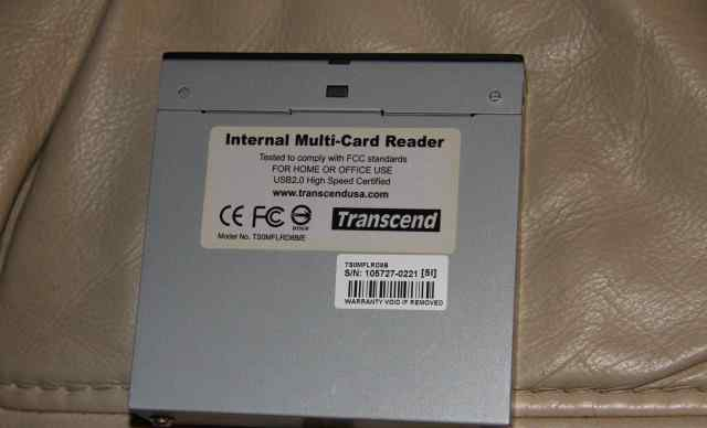 Transcend Internal Multi-Card Reader USB 2.0