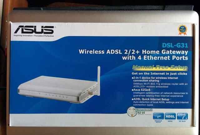 Точка доступа, модем, Asus DSL G31
