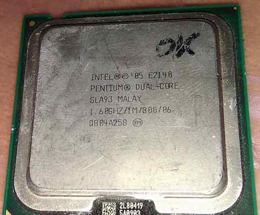 Intel pentium dual-core E2140 1.60 GHZ/1M/800