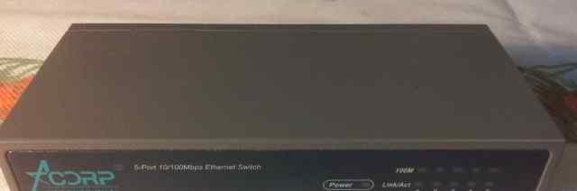 Коммутатор (switch) Acorp HU5D1 Ethernet 10/100