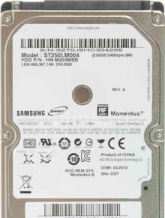 Жесткий диск seagate (samsung) 250 GB нерабочий