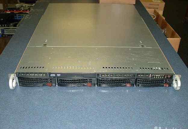 Сервер Supermicro 1u, комплект полный