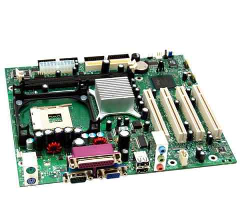 Мат. плата Intel desktop board d845glly + процессо