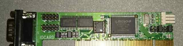 COM port PCI узкий (подойдёт в 1U сервер)