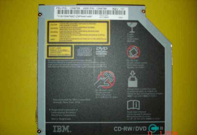 CD-RW/DVD-привод б. у. от IBM T42