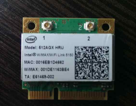 Wimax/Wi-Fi Half Mini PCIe Card Intel 512AGX HRU