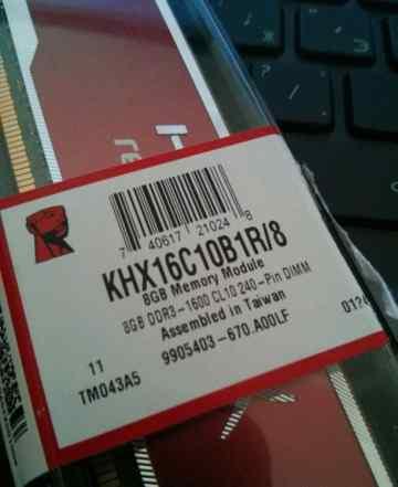 Kingston HyperX KHX16C10B1R/8 8GB DDR3. 1600