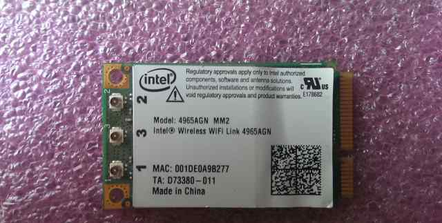 Wi-Fi Mini PCIe Wireless Card Intel 4965AGN MM2