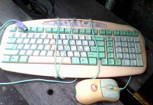 Клавиатура детская+ 4 мышки оптом