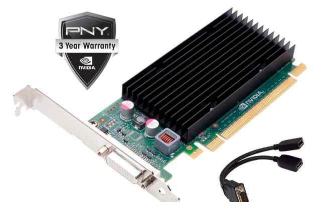 Nvidia NVS-300 низкопрофильная на 2 монитора