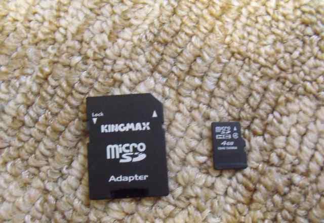 Флеш-карта Micro SD + адаптер Новая 4GB