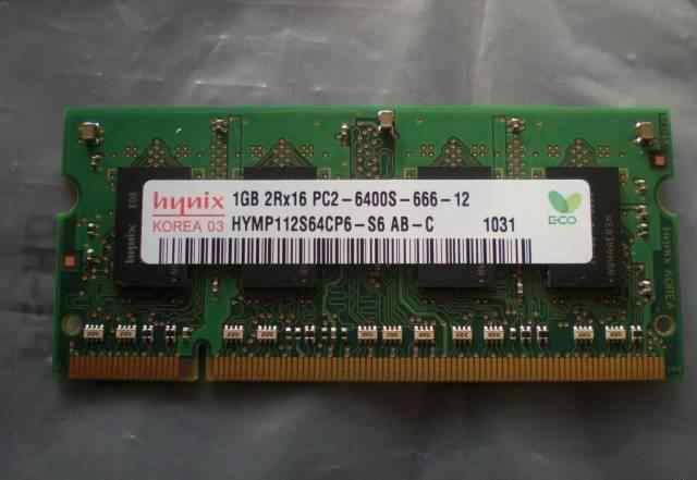 1GB 2Rx16 PC2-6400S-666-12 512MB SOD PC2-5300