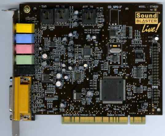 Звуковая карта Creative Sound Blaster live 5.1 PCI