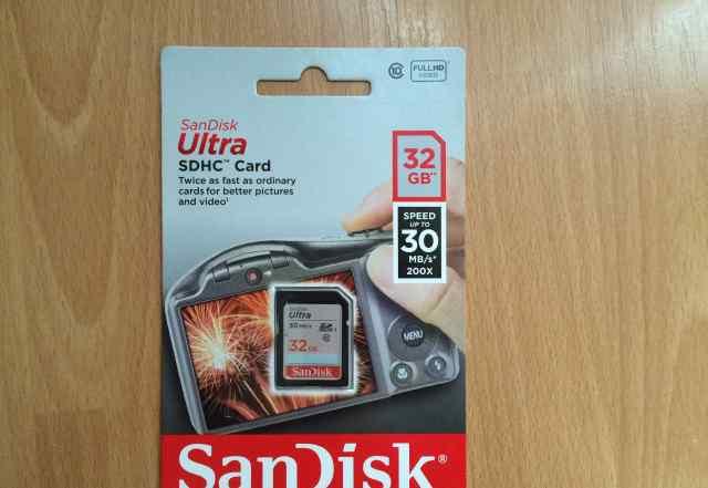 Карта памяти Sandisk Ultra SD 32GB