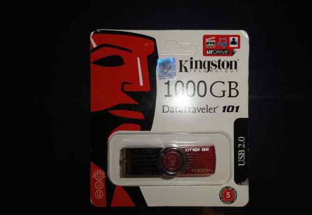 Флэшка Kingston Объем 1000 Gb (1 Tb). USB 2.0